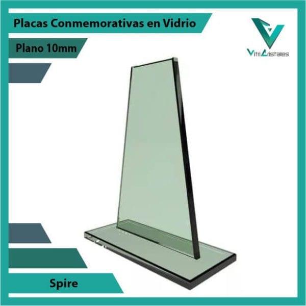 Placas Conmemorativas en Vidrio Spire personalizada