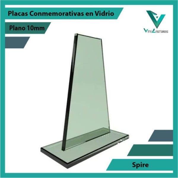 Placas Conmemorativas en Vidrio Spire personalizada con grabado laser