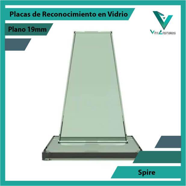 Placas de Reconocimiento en Vidrio Spire en grabado laser