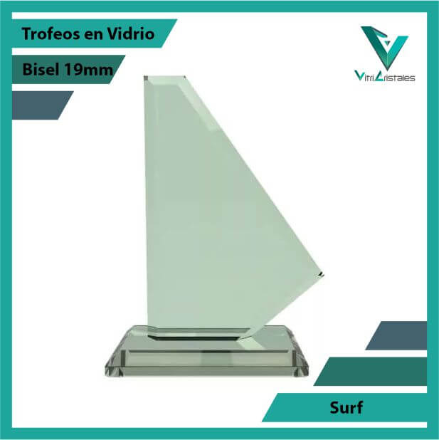 Trofeos en Vidrio Surf en grabado laser