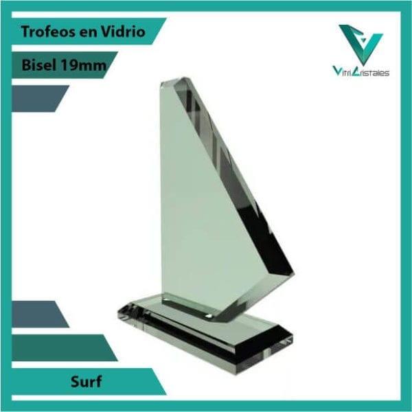 Trofeos en Vidrio Surf personalizada