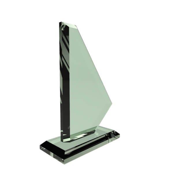 Trofeos en Vidrio Surf personalizada con grabado laser
