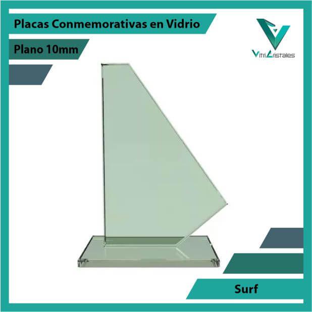 Placas Conmemorativas en Vidrio Surf en grabado laser