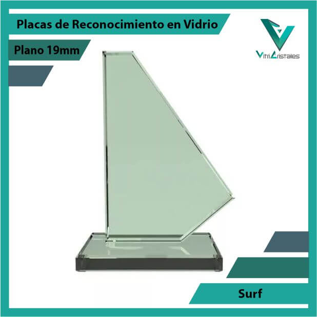 Placas de Reconocimiento en Vidrio Surf en grabado laser