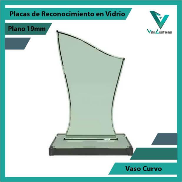 Placas de Reconocimiento en Vidrio Vaso Curvo en grabado laser