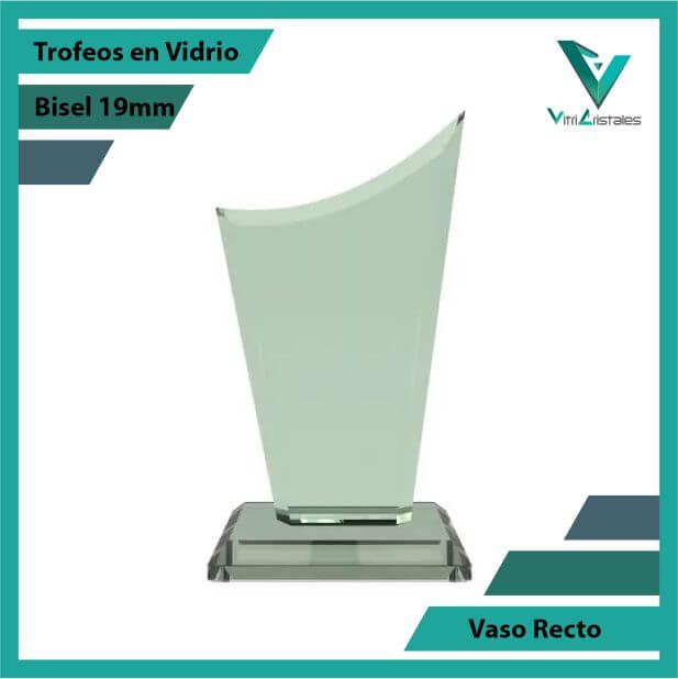 Trofeos en Vidrio Vaso Recto en grabado laser