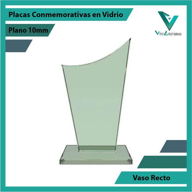 Placas Conmemorativa en Vidrio Vaso Recto gradado en laser