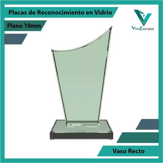 Placas de Reconocimiento en Vidrio Vaso Recto en grabado laser