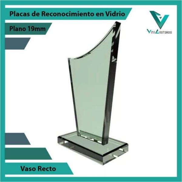 Placas de Reconocimiento en Vidrio Vaso Recto personalizada