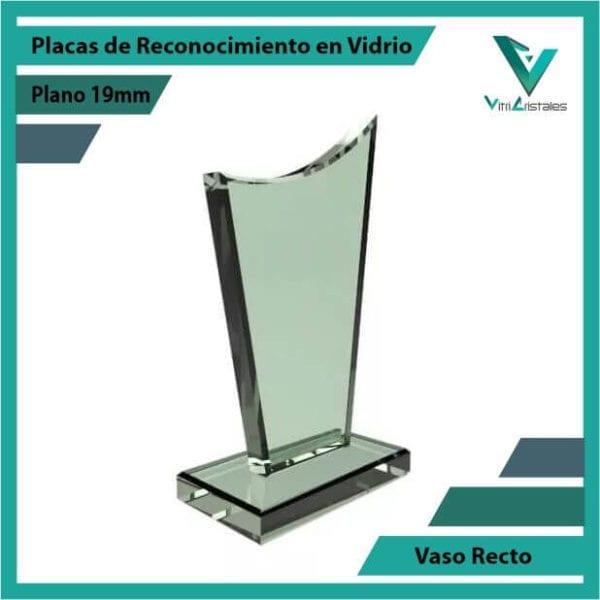 Placas de Reconocimiento en Vidrio Vaso Recto personalizada con grabado laser