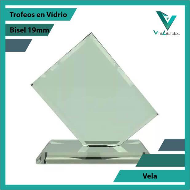 Trofeos en Vidrio Vela en grabado laser