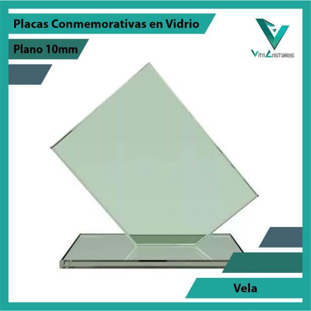 Placas Conmemorativas en Vidrio Vela en grabado laser