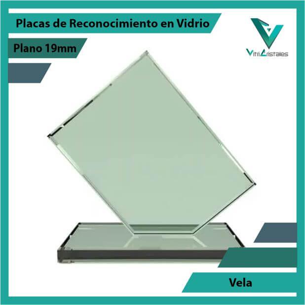 Placas de Reconocimiento en Vidrio Vela en grabado laser