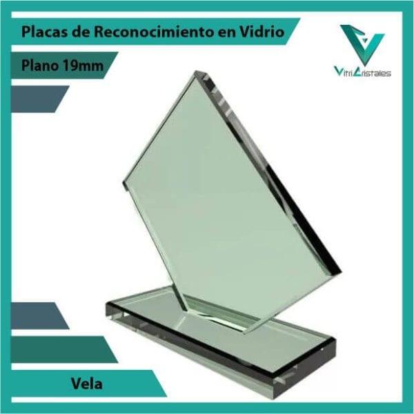 Placas de Reconocimiento en Vidrio Vela personalizada