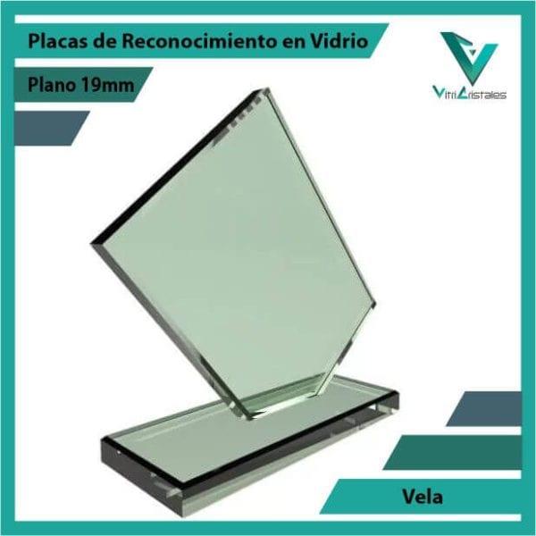 Placas de Reconocimiento en Vidrio Vela personalizada con grabado laser