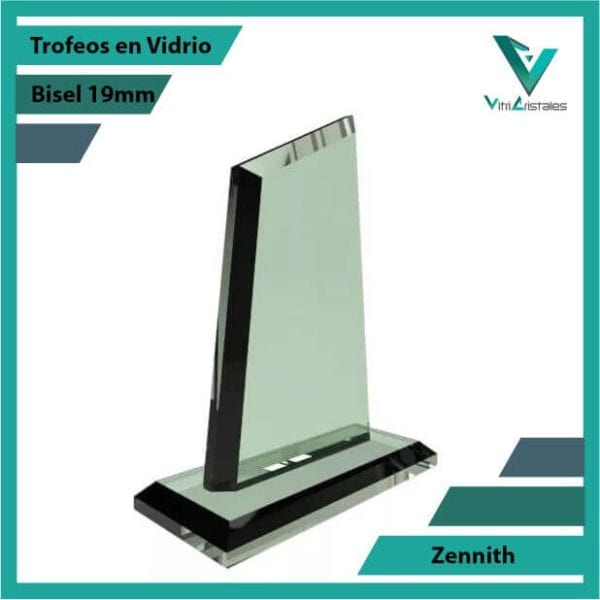 Trofeos en Vidrio Zennith personalizados con grabado laser