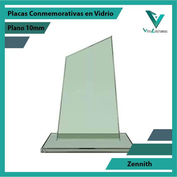 Placas Conmemorativas en Vidrio Zennith en grabado laser