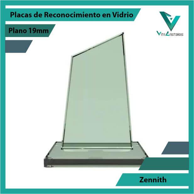 Placas de Reconocimiento en Vidrio Zennith en grabado laser