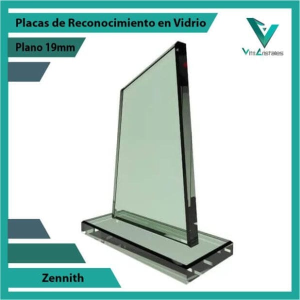 Placas de Reconocimiento en Vidrio Zennith personalizada