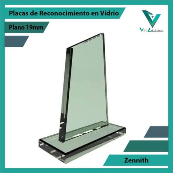Placas de Reconocimiento en Vidrio Zennith personalizada con grabado laser