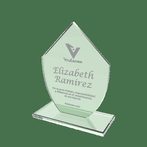 placas conmemorativas de vidrio