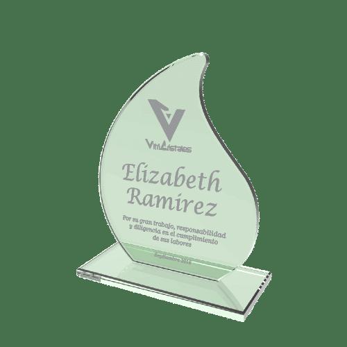 placas conmemorativas en vidrio