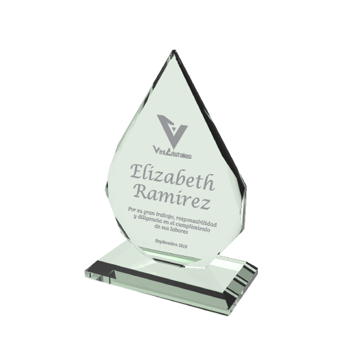 placas conmemorativas en cristal