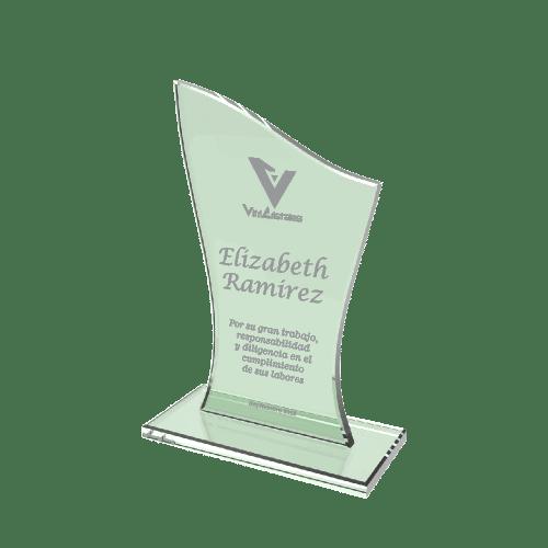 placas de agradecimiento en vidrio