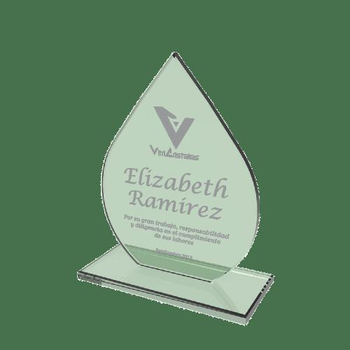 placas de reconocimiento de vidrio