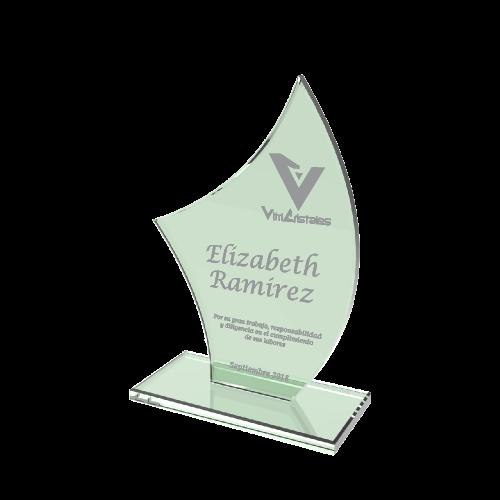 trofeos en vidrio para eventos
