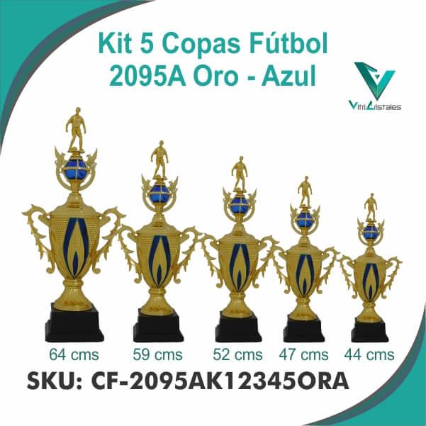 COPAS DE FUTBOL ORO AZUL CF-2095AK12345ORA