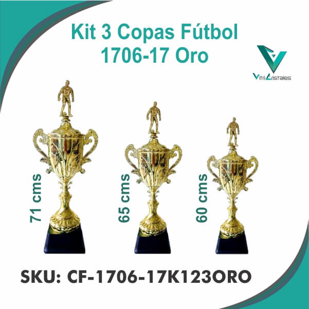 COPAS DE FUTBOL ORO CF-1706-17K123ORO