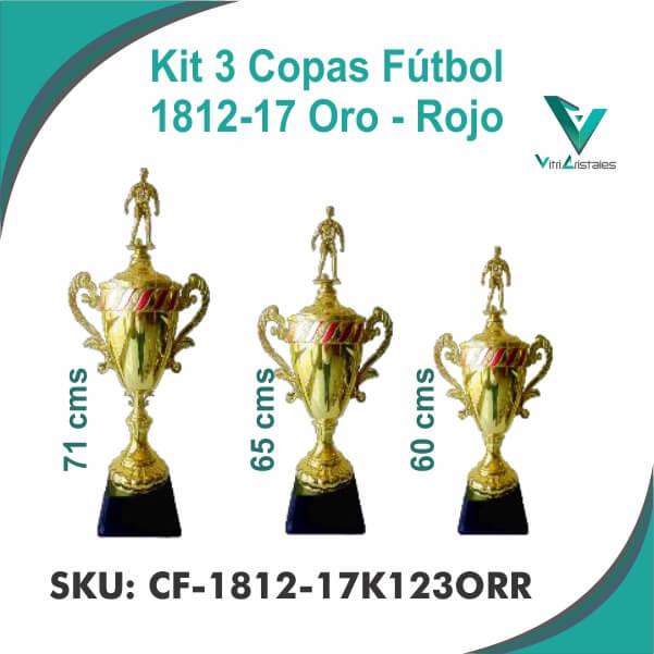 COPAS DE FUTBOL ORO ROJO CF-1812-17K123ORR