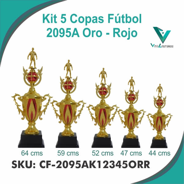 COPAS DE FUTBOL ORO ROJO CF-2095AK12345ORR