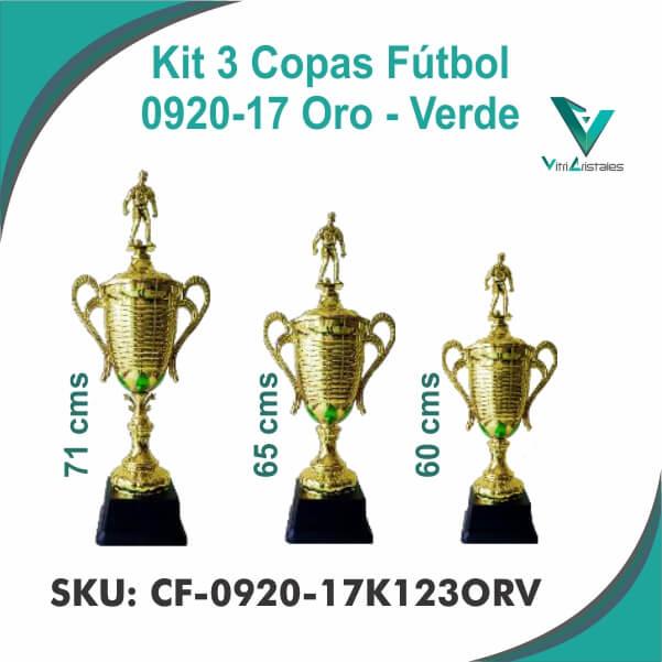 COPAS DE FUTBOL ORO VERDE CF-0920-17K123ORV