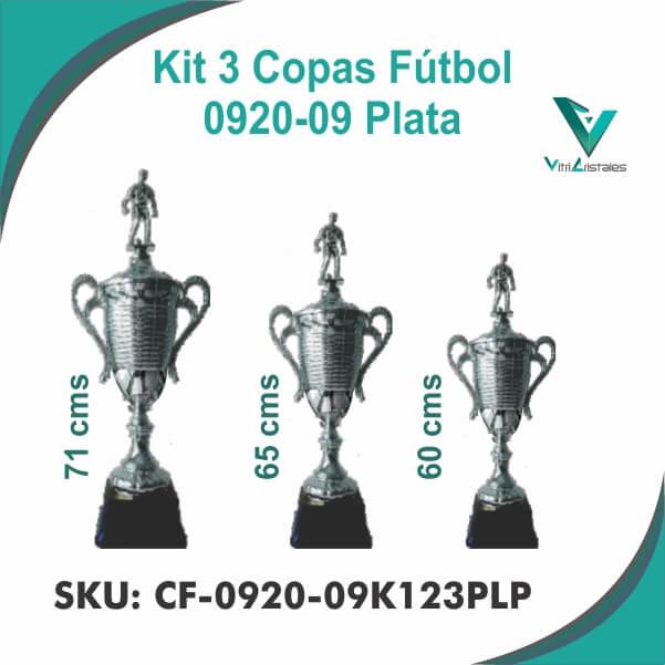 COPAS DE FUTBOL PLATA CF-0920-09K123PLP