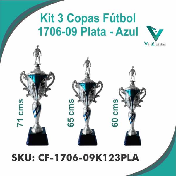 COPAS DE FUTBOL PLATA CF-1706-09K123PLA