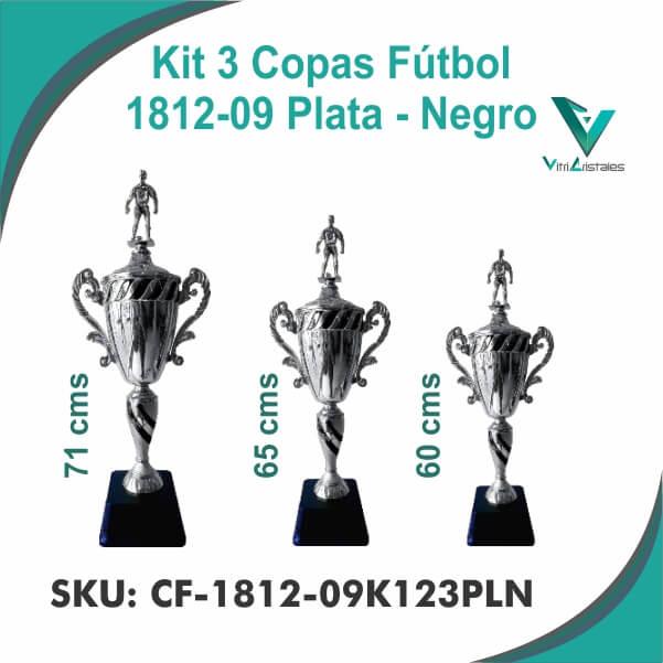 COPAS DE FUTBOL PLATA NEGRO CF-1812-09K123PLN