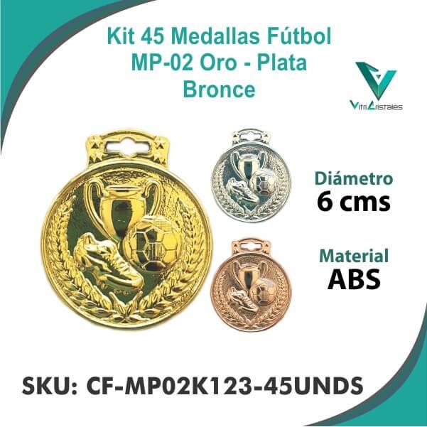 Medallas Futbol CF-MP02K123-45UNDS