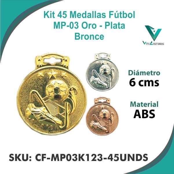 Medallas Futbol CF-MP03K123-45UNDS