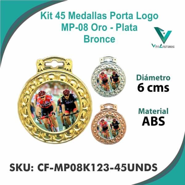 Medallas Porta Logo CF-MP08K123-45UNDS