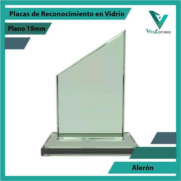 Placas de Reconocimiento en Vidrio Alerón grabada en laser