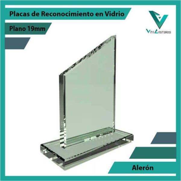 Placas de Reconocimiento en Vidrio Alerón personalizada con grabado laser