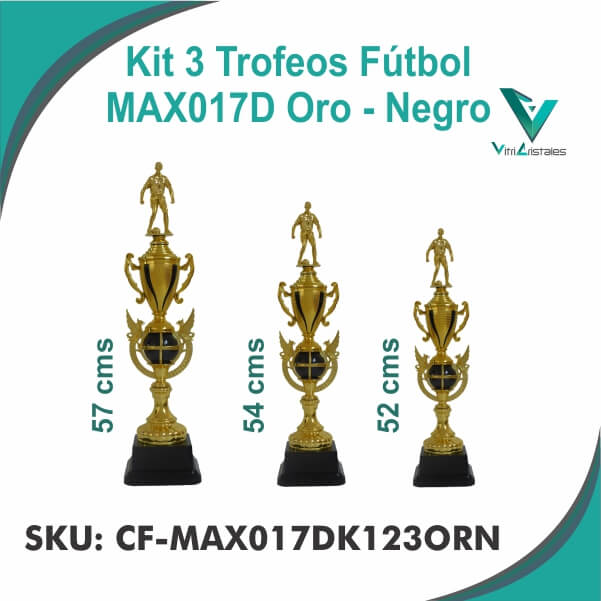 TROFEOS FUTBOL ORO NEGRO CF-MAX017DK123ORN