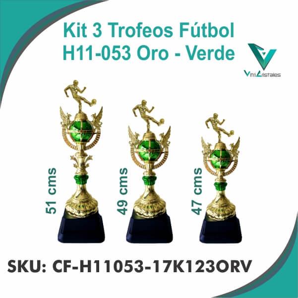 TROFEOS FUTBOL ORO VERDE CF-H11053-17K123ORV