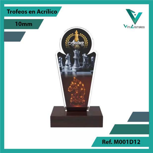 Trofeos en Acrilico Ref 001 F AJEDREZ