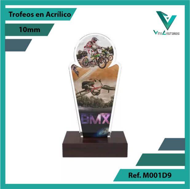 Trofeos en Acrilico Ref 001 F BMX