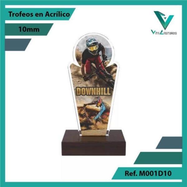 Trofeos en Acrilico Ref 001 F DOWNHILL