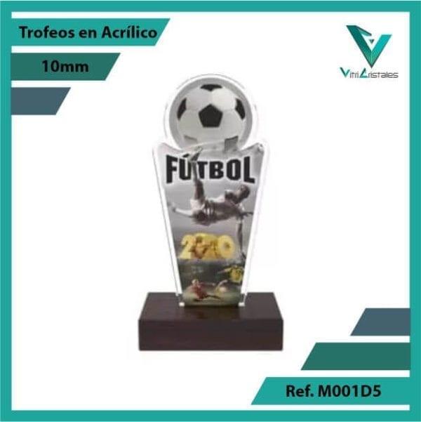 Trofeos en Acrilico Ref 001 F FUTBOL 1