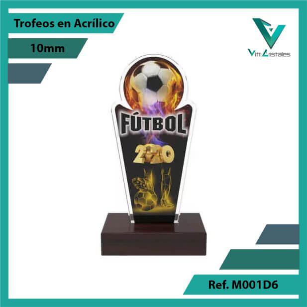 Trofeos en Acrilico Ref 001 F FUTBOL 2